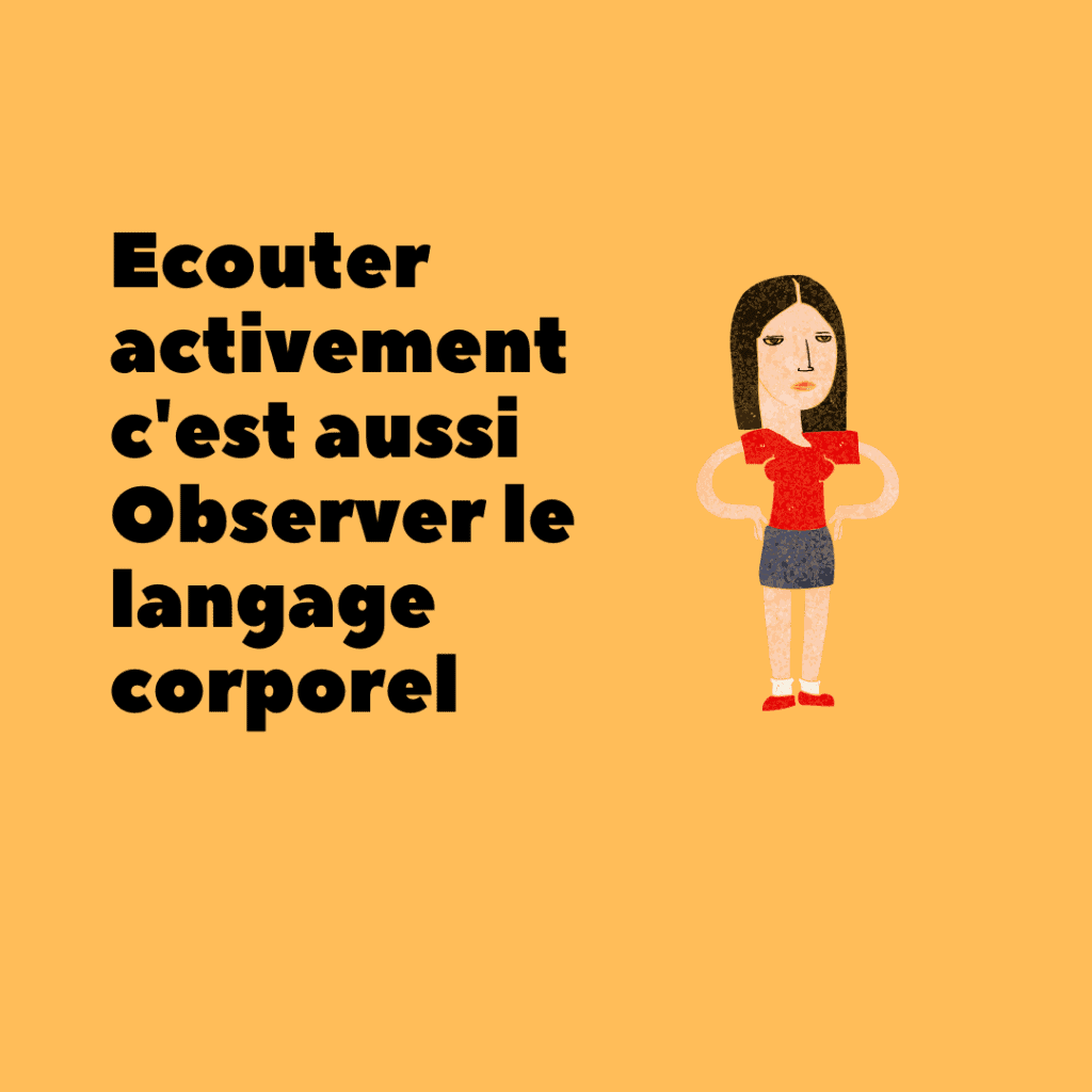 Ecoute active,  communication non verbale